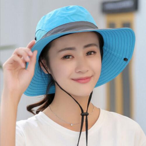 Damen Schlapphut Breit Krempe Fischerhut Sonnenhut UV-Schutz Strand Hüte Mütze