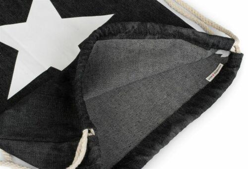 Hipster Turnbeutel Jeans Stern washed Batik Rucksack Sportbeutel Beutel Unisex