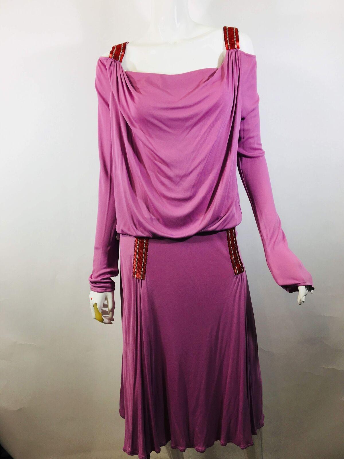 Christian Lacroix Womens Size XL Pink Viscose 2 PC Emebellished Skirt Set