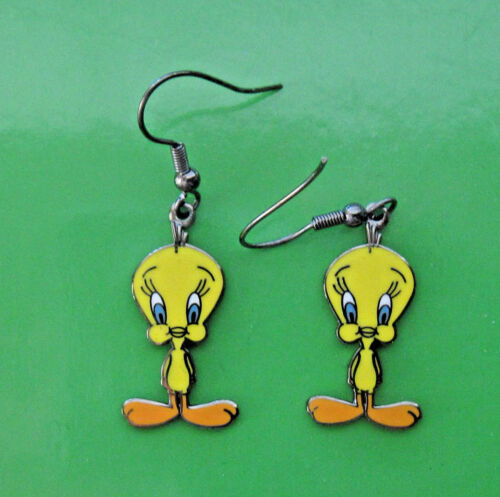 ear rings GIFT BOXED Tweety Bird - Earrings TWEETIE BIRD classic pose