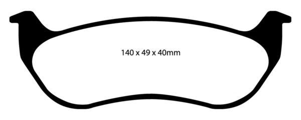 REAR EBC DP41673R YELLOWSTUFF ULTIMATE RACE BRAKE PADS
