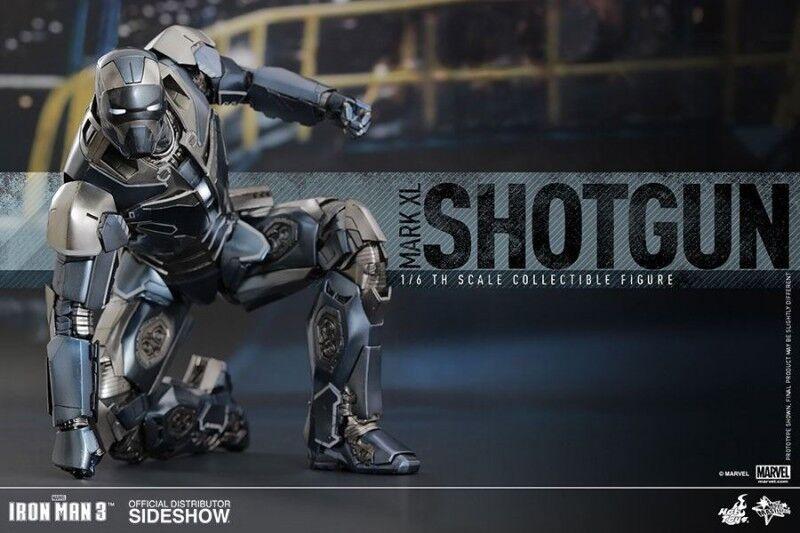 Iron Man 3 figurine Movie Masterpiece 1 6 Mark XL Shotgun 30 cm avec LED 902494