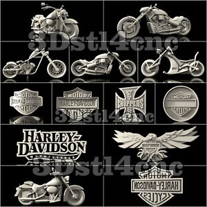 13-3D-STL-Models-Harley-Davidson-for-CNC-Router-Carving-Machine-Artcam-aspire