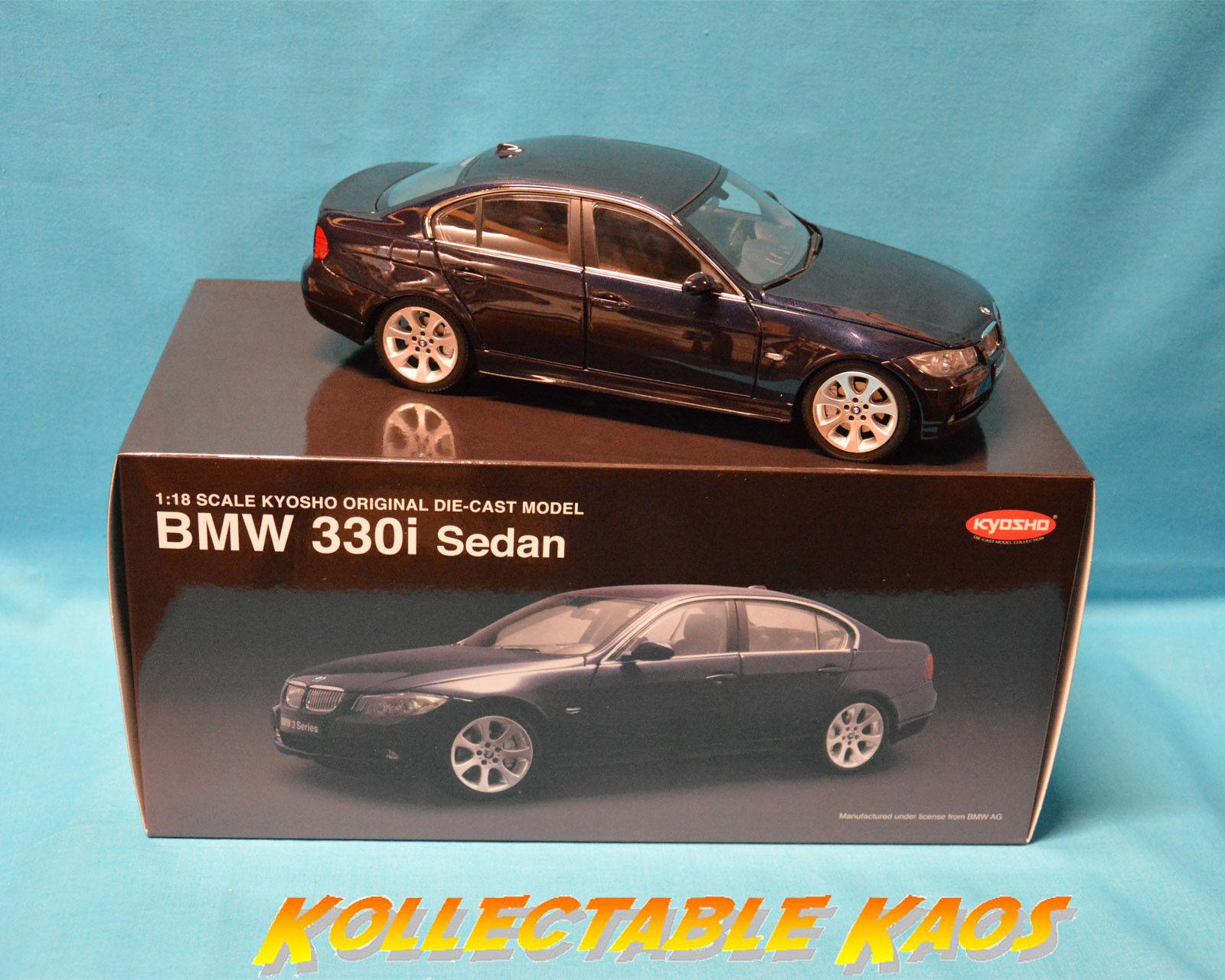 1:18 Kyosho - BMW 330I Sedan - Navy Blue NEW IN BOX
