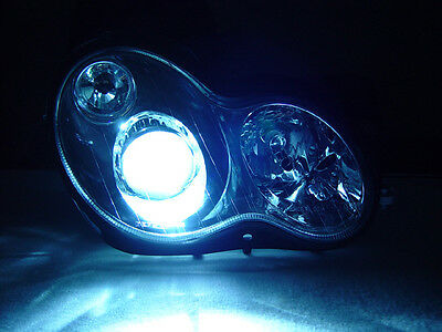 DEPO Black Xenon HID Projector Headlamp For 01-07 W203 C Class 4D Sedan 5D Wagon