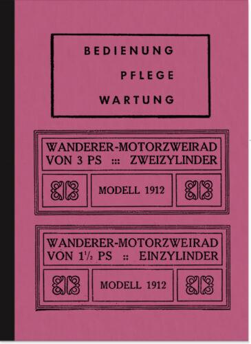 Escursionisti 1,5 3 CV MOTO 1912 manuale istruzioni manuale