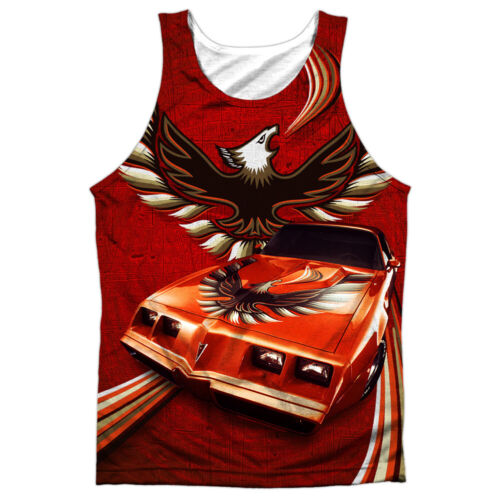 Pontiac FIREBIRD FLAMES Front Only Sublimated Big Print Poly Tank Top