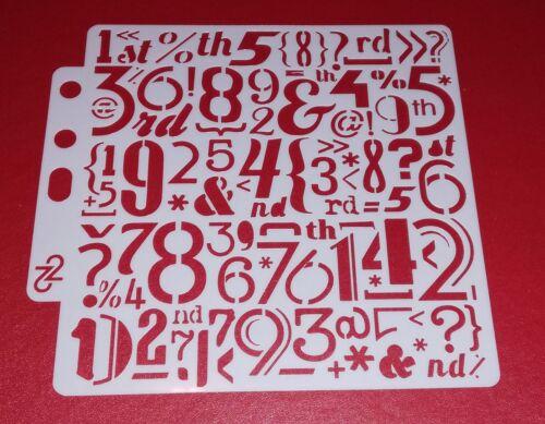 Plantilla de máscara de números Grunge//medios mixtos plantilla BNIP y Gratis P/&P