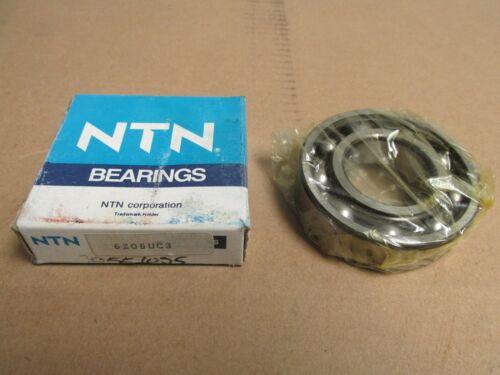 NIB NTN 6206UC3 BALL BEARING NO SHIELDS 6206 U 6206C3 30x62x16 mm  NEW