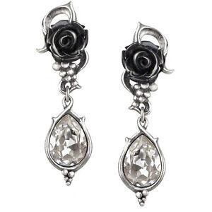 GENUINE-Alchemy-Gothic-Earrings-Bacchanal-Rose-Studs-Ladies-Fashion