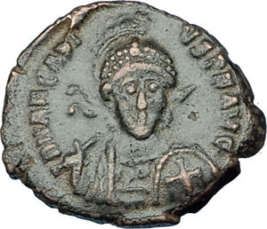 ARCADIUS-with-CROSS-Original-401AD-Antioch-Authentic-Ancient-Roman-Coin-i65849