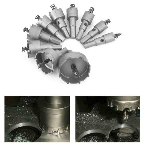 10pc Stainless TCT Carbide Tip Hole Saw Metal Drill Bit Cutter For Iron Aluminum