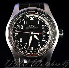 IWC Pilot Worldtimer IW3262-01 IW3262 IW326201 326201 Black Alligator 45mm