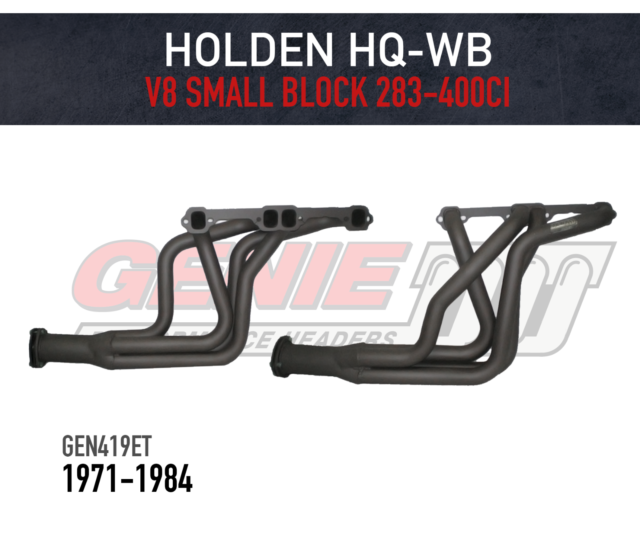 GENIE Headers / Extractors for Holden HQ-WB Small Block Chev 283-400ci - Tuned