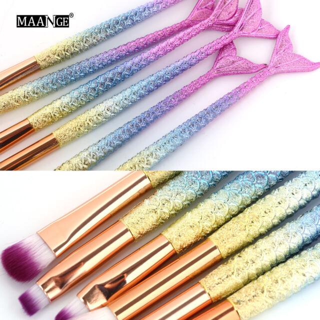 6PCS Pro Makeup Brushes Set Eyeshadow Eyebrow Eyeliner Foundation Lip Brush Hot