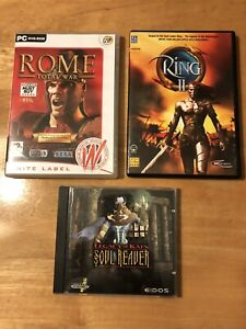 PC CD ROM Bundle Spiele Legacy of Kain Soul Plünderer, Ring 2, Rome Total War