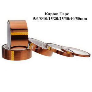 5-10-20-30-50mm-x-33M-Gold-High-Temperature-Heat-Resistant-Kapton-Tape-Polyimide
