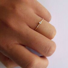 Handmade Women's Brilliant Cut Diamond Delicate 18k Gold ring Fine Jewelry