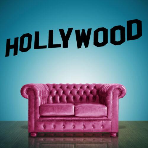 Hollywood Zeichen Schriftzug Vinyl Wandkunstaufkleber