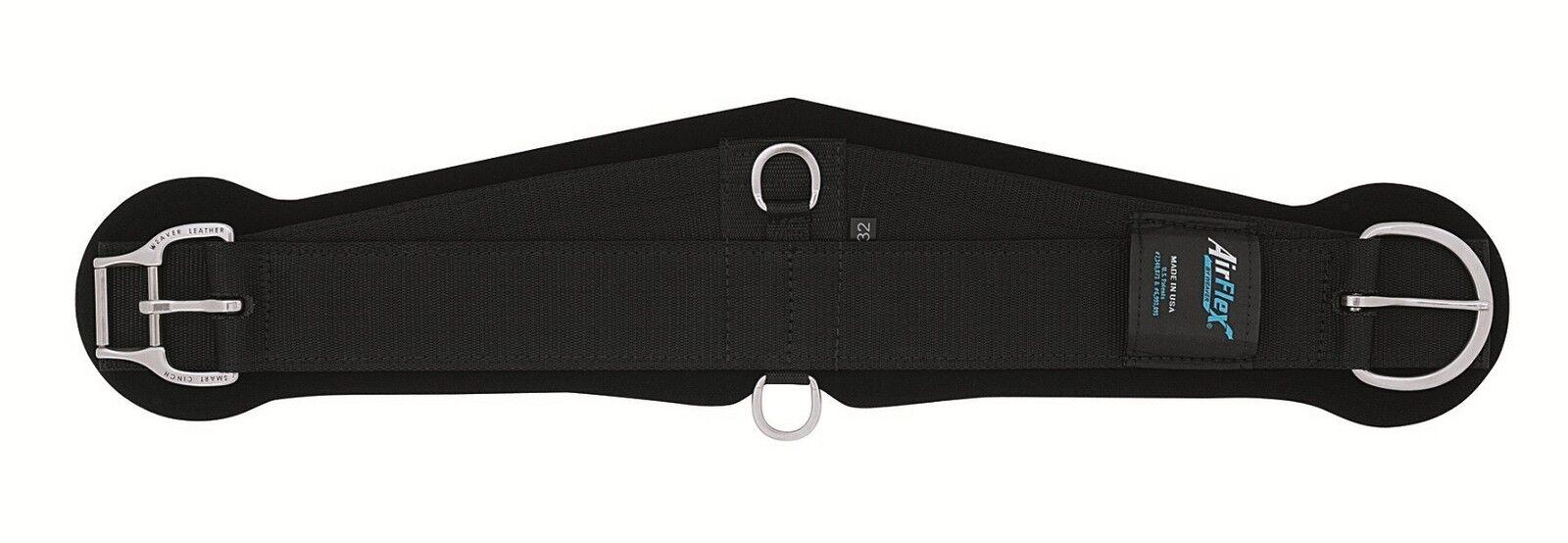 Weaver Leather amélioré Smart Cinch Airflex schwarz Circonférence-Roper - 28 32