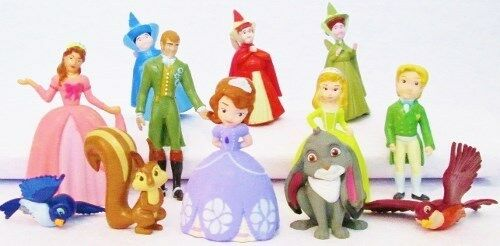 SOFIA THE FIRST 12 Figure Set DISNEY PRINCESS PVC TOY Cake Topper FAIRIES Queen!