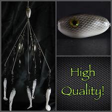 Alabama/Umbrella  Rig  (Bladed Bait Ball) 5 Wire 8 Blades! High Quality