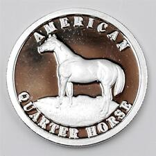 PURE .999 SILVER  American Quarter Horse 17mm Liberia Legal Tender Coin yr. 2000