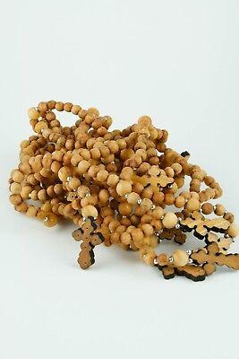 rosary beads prayer rope 50 knots wood cross четки с бусинкой деревяный крест