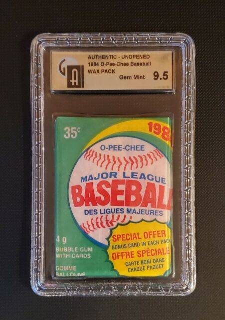 1984 O-PEE-CHEE BASEBALL PACK BREAK! 1 CARD! DON MATTINGLY RC $15K++!! GAI 9.5!