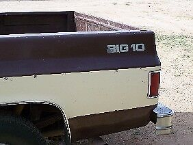1978 Chevy C 10 Chevrolet Truck Big 10 Replica Decals For The Bed