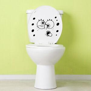 Spongebob Toilet Decal Sticker Wall Laptop Window Tablet Funny Door