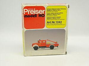 Preiser-Kit-a-monter-1-87-HO-Magirus-F-Mercur-125A-Pompiers-Feuerwehr