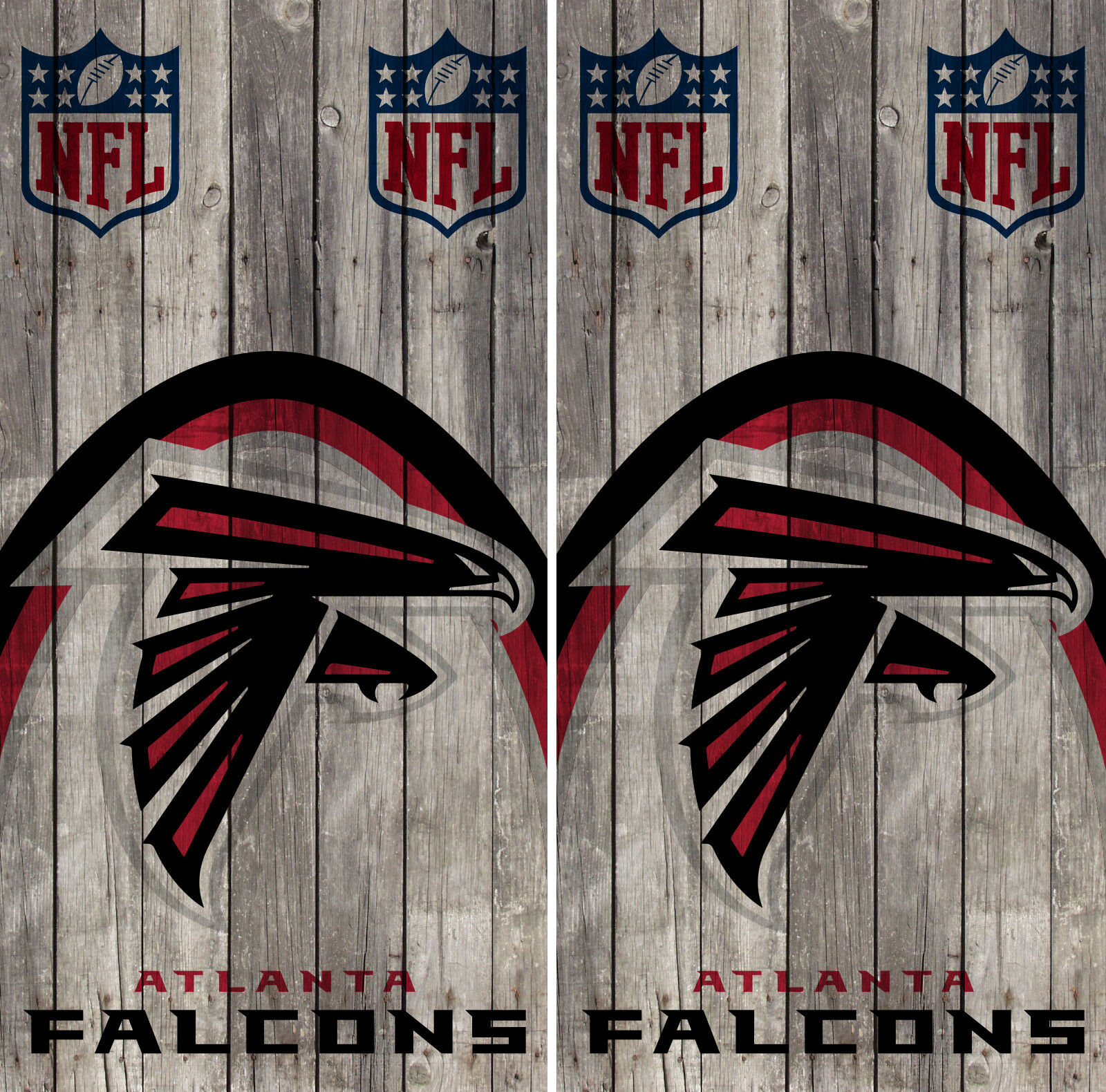 Atlanta Falcons Wood Cornhole Wrap NFL Logo Skin Game Board Set Vinyl Decal CO09