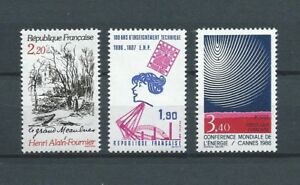 FRANCE-1986-YT-2443-a-2445-TIMBRES-NEUFS-LUXE