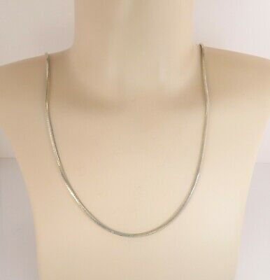 snake chain with lobster claw clasp 925 silver 18 inch chain only