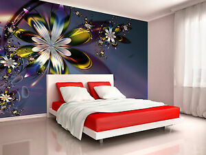 Image Is Loading Colorful Purple Flower Wall Mural Photo Wallpaper GIANT  Part 75