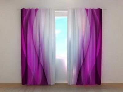 "Auf Maß Good For Energy And The Spleen Faithful Fotogardinen ""purple Wav"" Fotovorhang Vorhang Gardinen 3d Qualität Bild Window Treatments & Hardware"