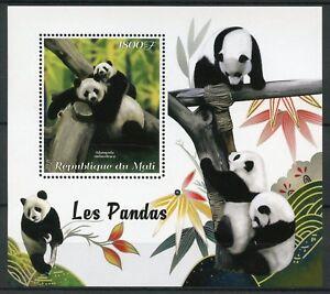 Mali-2018-MNH-Giant-Panda-Pandas-1v-S-S-Mammals-Wild-Animals-Bears-Stamps