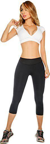 Women Slim Neoprene Pants Hot Thermo Sweat Sauna Body Shaper Gym Trainer Capri