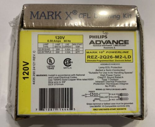 Philips Advance Mark 10 REZ-2Q26-M2-LD Dimming Ballast for CFL Lamps Dimming Kit