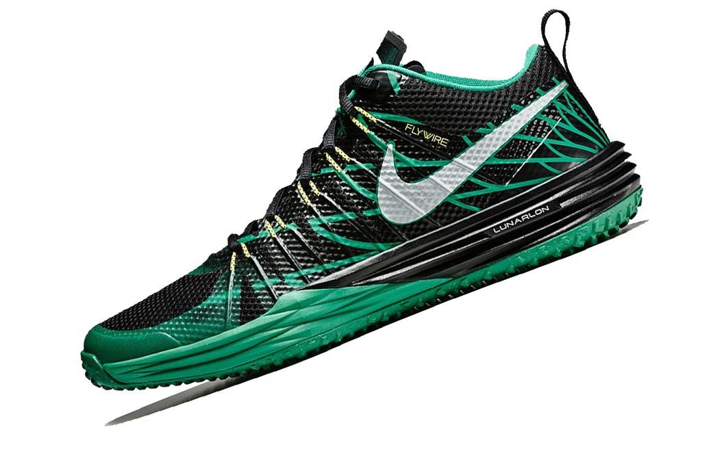 NEW NIKE LUNAR TR1 NGR = SIZE 10 = OREGON DUCKS MEN'S SHOES 654283-037