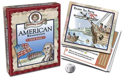 PROFESSOR NOGGIN/'S AMERICAN REVOLUTION KIDS CARD GAME