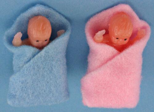 Dollhouse Miniatures 1:12 Scale Babies in Blanket Item #IM65006