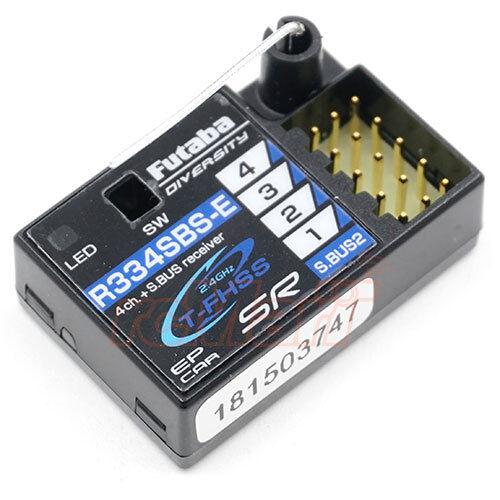 Futaba R334SBS-E S.Bus2 T-FHSS SR HV 4-Ch receptor para 7PX 4PX 4PLS  R334SBS-E