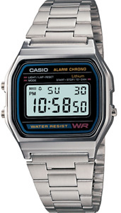 Casio Watch Retro Digital Unisex A-158W  A-158 Original New Digital  A158 Silver
