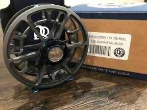 Ross-Evolution-LTX-7-8-Fly-Reel-Limited-Edition-Gunmetal-Blue-FREE-FLY-LINE