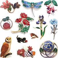 ENAMEL BROOCH & PIN / Women Accessory Costume Jewellery Birthday Christmas Gift
