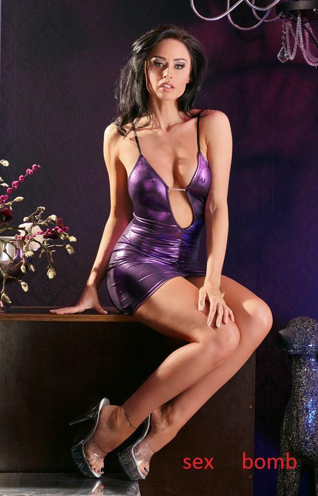 Sexy Abito Vestit Volant Strass taglia XS S, M, L (38 40 42 44) Fashion GLAMOUR