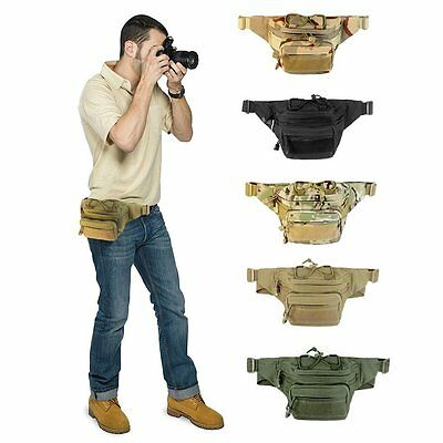 Military Cycling Waist Fanny Pack Bum Belt Bag Pouch Travel Hip Purse Mens Women