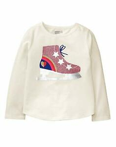 462b13eccdca Crazy 8 Baby Girls' Toddler Long Sleeve Graphic Tee, White Ice Skate ...